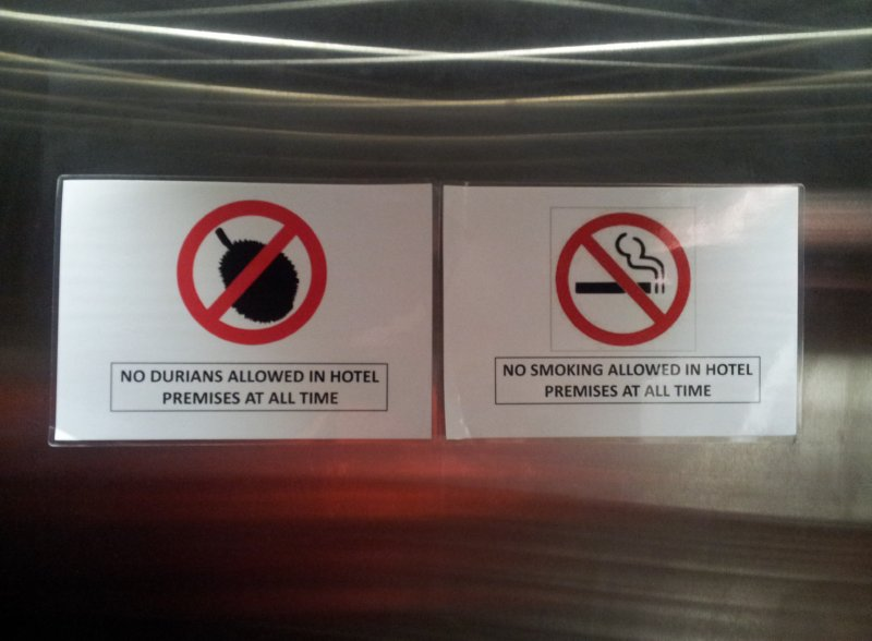 Kuala Lumpur - Durians not allowed