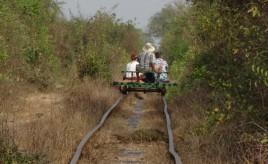 Battambang - bamboe trein