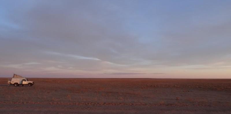 Zamyn Uud naar Ulaanbaatar - kampeerplek in Gobi