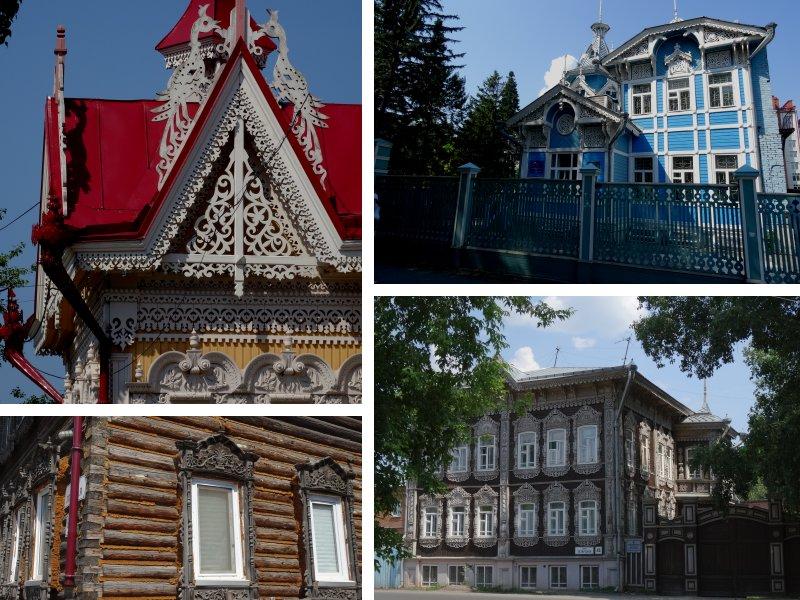 Tomsk - houten huizen