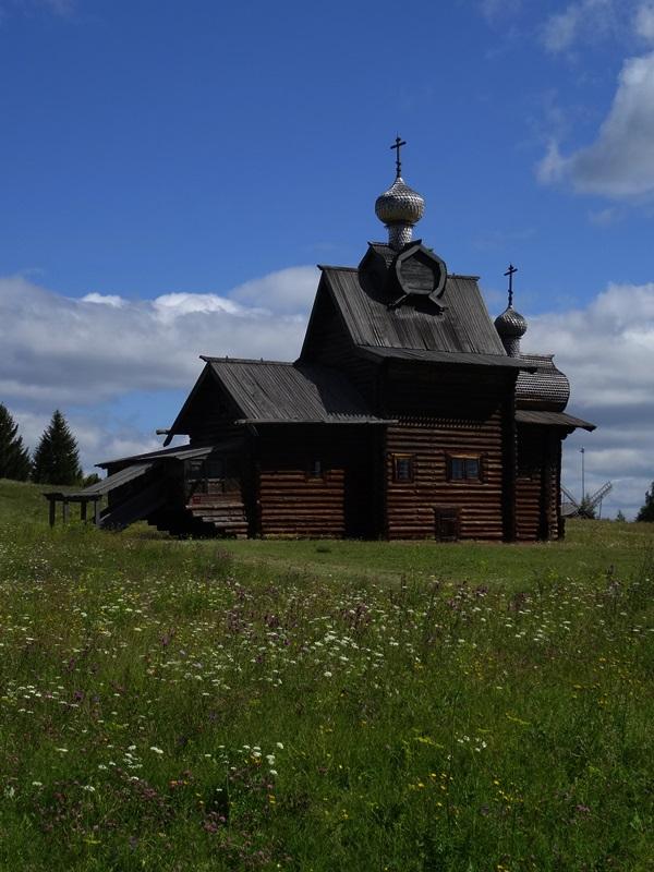 Khokhlovka - architectuur&ethnografisch museum - Noord Kama kerk