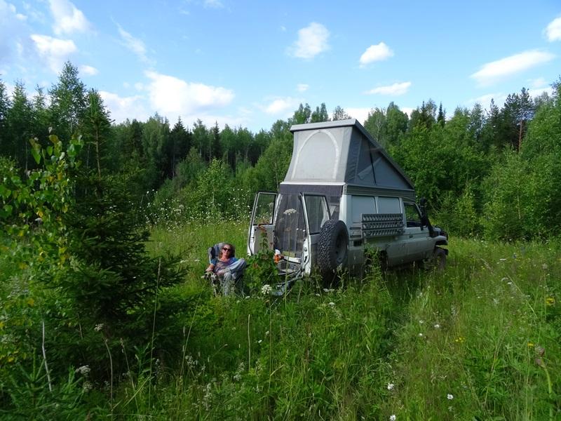 Kungur naar Perm - kamperen