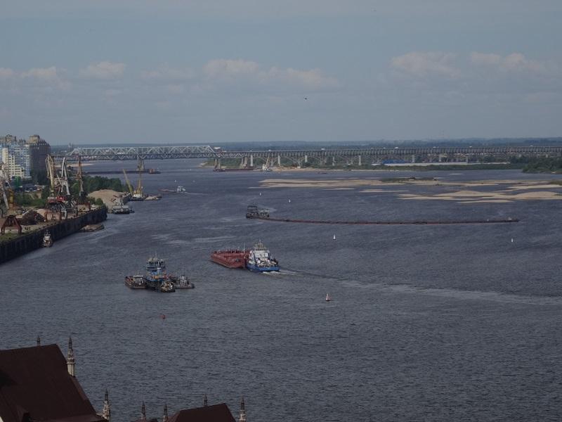 Nizhny Novgorod - uitzicht over Wolga