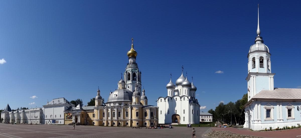 Vologda - A. Nevsky kerk, St. Sofia Kathedraal en kremlin