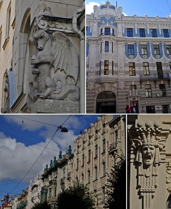 Riga - Art Nouveau huizen