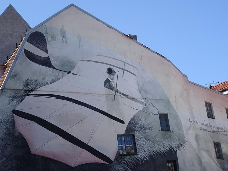 Riga - muurschildering