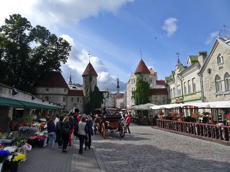 Tallinn - oude stad - straatbeeld